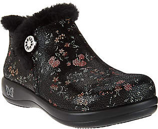 Nobrand NO BRAND Alegria Water Resistant Leather Ankle Boots w/Faux Fur-Meri
