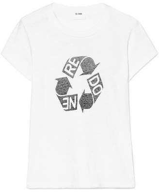 RE/DONE Printed Slub Cotton-jersey T-shirt - White