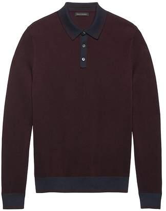 Banana Republic BR x Kevin Love   SUPIMA® Cotton Textured Sweater Polo