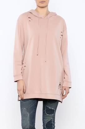 Honey Punch Distressed Sweatshirt Tunic $59 thestylecure.com