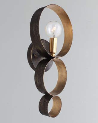 Crystorama Luna 1-Light Sphere Sconce