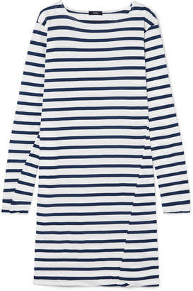 Bassike Sailor Striped Organic Cotton-jersey Dress - Blue
