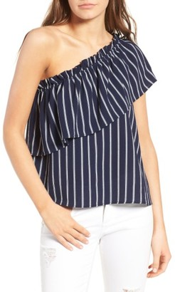 Women's Bp. One-Shoulder Ruffle Top $35 thestylecure.com