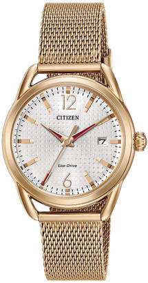 DRIVE FROM CITIZEN ECO-DRIVE Drive from Citizen Womens Rose Goldtone Bracelet Watch-Fe6083-72a