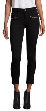 7 For All Mankind Ankle Skinny Zipper Jeans $199 thestylecure.com