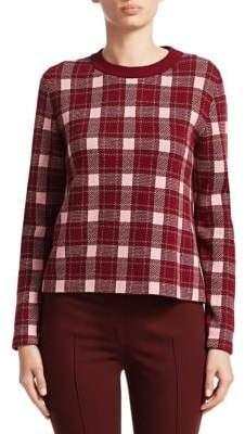 Akris Punto Cashmere-Blend Check Pullover