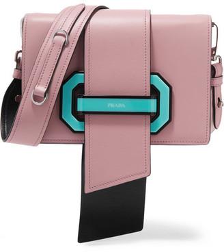 Prada - Ribbon Leather Shoulder Bag - Pink $2,840 thestylecure.com