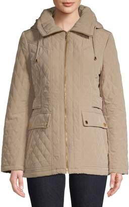 London Fog Diamond Quilted Full-Zip Jacket