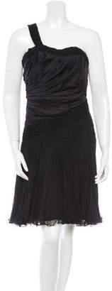 Carlos Miele Silk One-Shoulder Dress