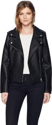 BB Dakota Women's Amelie Moto Vegan Leather Jacket