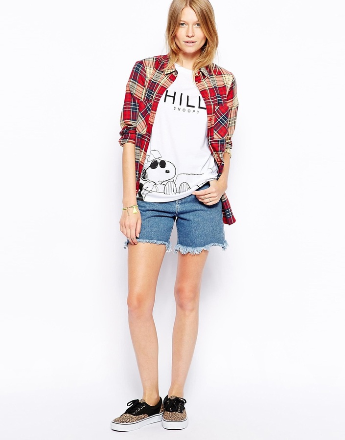 Asos T-Shirt with Snoopy Chillin Print