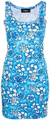 DSQUARED2 floral print mini dress