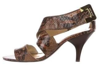 MICHAEL Michael Kors Leather Embossed Sandals