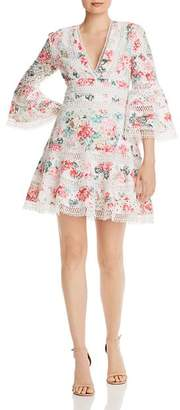 Aqua Floral Eyelet & Lace Dress - 100% Exclusive