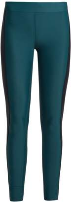 AEANCE Contrast-panel performance leggings