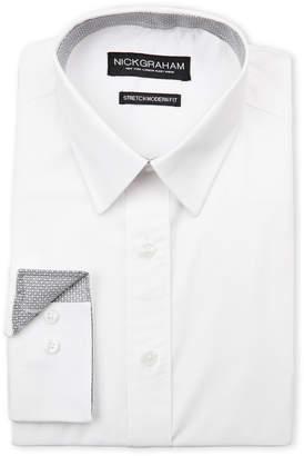 Nick Graham White Stretch Modern Fit Dress Shirt