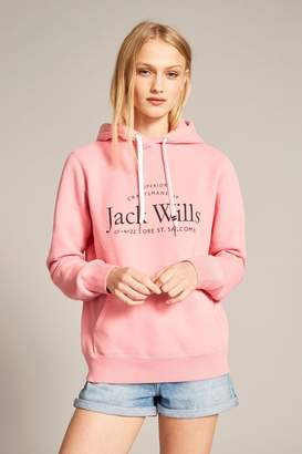 Jack Wills Womens Pink Hunston Back Graphic Hoody - Pink