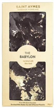 Saint Aymes Babylon 23ct Gold Dark Chocolate And Pistachio Bar 90g
