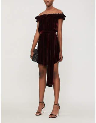 Stella McCartney Off-the-shoulder velvet mini dress