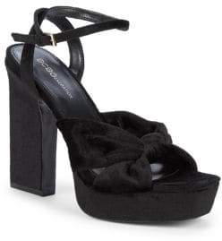 "BCBGeneration Chiara Velvet Twist Platform Sandals/5"""