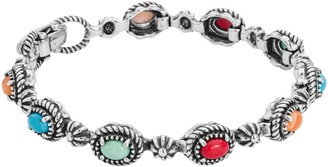 American West Sterling Multi-Gemstone Tennis Bracelet