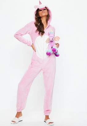 Missguided Pink Unicorn Onesie