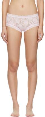Hanky Panky Pink Lace Boy Shorts