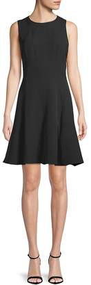 Anne Klein Women's Fit-&-Flare Crepe Dress