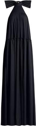 Caroline Constas Bo halterneck dropped-waist cotton dress