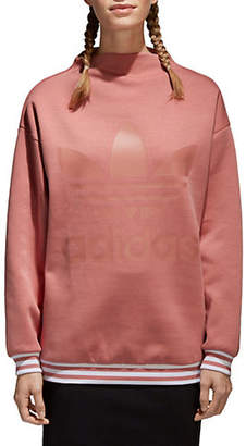 adidas Logo Mock Neck Sweatshirt