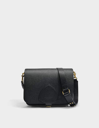 Burberry The Satchel Large Square Bag in Black Goatskin