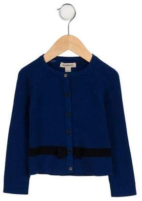 Burberry Girls' Knit Bow-Accented Cardigan