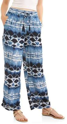 French Laundry Women's Tie Front Woven Palazzo Pant