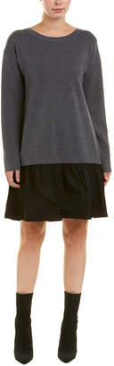 Milly Removeable Shirting Wool Shift Dress