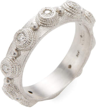 Armenta Silver And Diamond Bezel Stack Ring