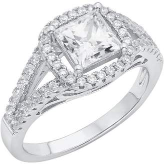 Swarovski Generic 5/8 Carat T.G.W. Crystal and CZ Sterling Silver Engagement Ring