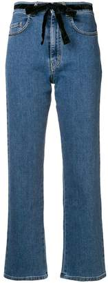 Isa Arfen cropped straight leg jeans