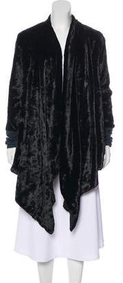 Elizabeth and James Faux Fur Long Coat