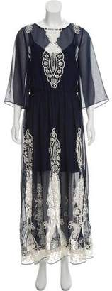Alice + Olivia Three-Quarter Sleeve Maxi