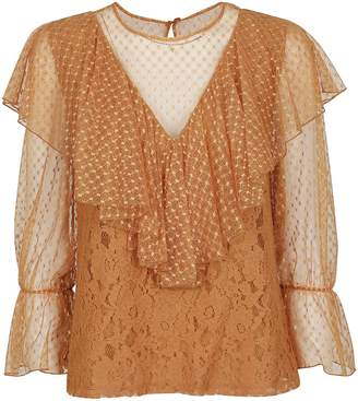 See by Chloe Ruffled Lace Blouse