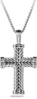 David Yurman Chevron Sterling Silver Cross Pendant