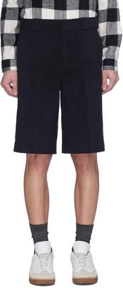 Alexander Wang Leather trim twill shorts