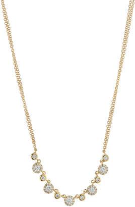 Neiman Marcus Diamonds 14k Diamond Double-Strand Necklace, 0.56tcw