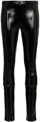 Haider Ackermann stretch patent leather-coated cotton leggings