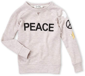 Jessica Simpson Girls 4-6x) Peace Long Sleeve Tee