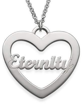 Fashionable FACOCO 925 Sterling Silver Custom and Script Name Heart Necklace Lady Name Necklace( 14)