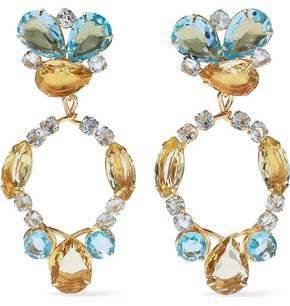 Bounkit Gold-Tone Quartz And Crystal Earrings