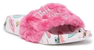 Capelli of New York This Girl Can Faux Fur Fashion Slide (Toddler & Little Kid)