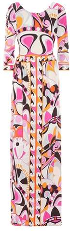 Emilio Pucci Printed silk-blend maxi dress