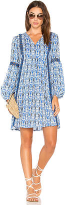 Ella Moss Tribal Romance Tunic in Blue $174 thestylecure.com